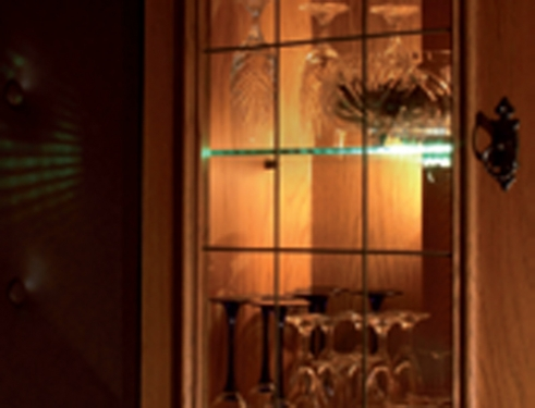 LED Wohnwand Beleuchtung Glasregal Kantenbeleuchtung ...